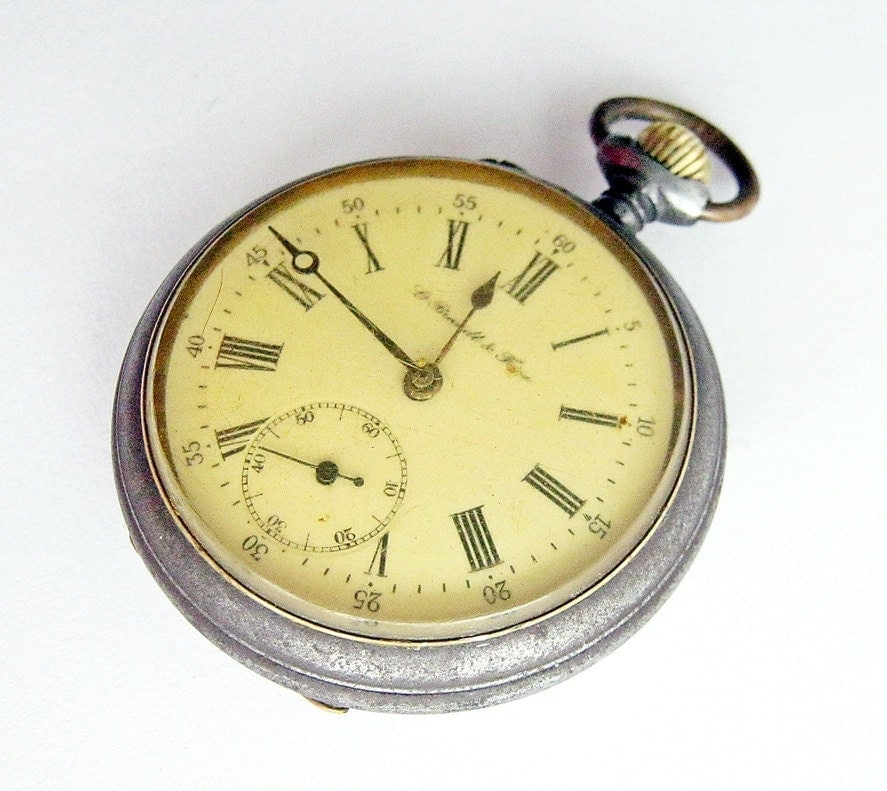 antique swiss pocket pre omega louis brandt frere