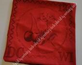 Throw Pillow, Decorative Pillow cover, Door County Cherry 2012 Stamp - Pillow Talk - Scarlet