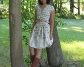 Custom Organic Cotton Floral Draped Gathered Skirt (MORE COLORS)