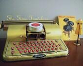 Vintage Metal Toy Typewriter- Berwin 1960