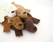 Bear Rug Coaster (Set of Four)