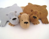 Reserved Listing for 'Goodnight Moon', Bear Rug Coaster (Set of Three-custom)