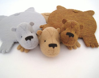 Bear Rug Coaster (Set of Three)