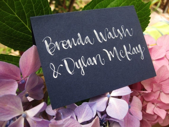 Wedding Calligraphy for Place Cards, Escort Cards