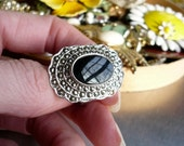 Massive Marcasite of the 80s (vintage ring)