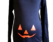 Halloween Pumpkin Maternity Costume T Shirt LONG sleeve