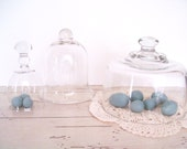 Glass Cloche Collection Vintage Cloches Set of Three Wedding Table Decor Spring Decorating