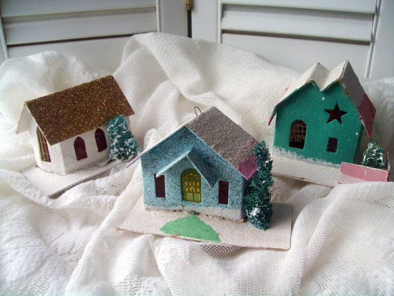 Christmas Houses Village Set