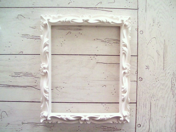 White Frame Painted Cottage Chic Decor French Farmhouse Wedding