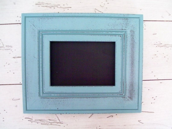 Wedding Chalkboard Frame Blue Framed Chalkboard Beach Cottage Nursery Decor Wedding Chalkboard  Table Number