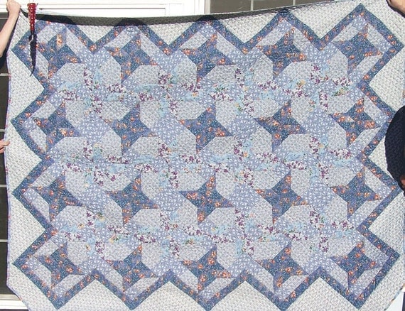 Beauiful blues piece Quilt