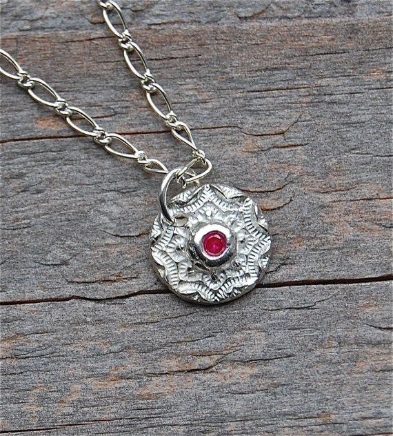 mini silver pendant, tiny silver necklace, gift for her, gift for wife, red ruby necklace, peridot necklace, blue sapphire necklace
