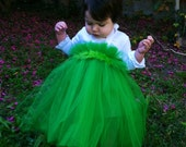 Grinch Inspired Christmas Tutu Dress for parades pageants and pictures with hair bow