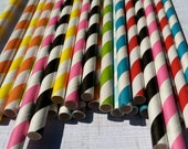 400 Paper Straws.... Your choice of colorsw/ DIY Blank Printables, Retro, Vintage Inspired, Biodegradable