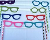Colorful Photo Prop Glasses on a Stick Photo Prop Set