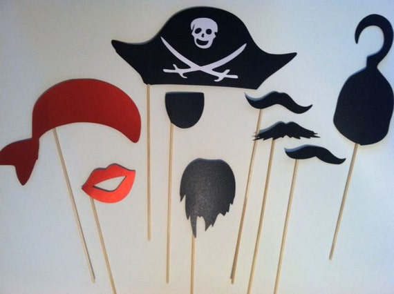 Pirate Party on a stick photo prop set DIY KIT