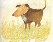 Mr Grumpy's Outing vintage book page The dog who teased