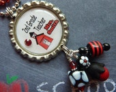 PERSONALIZED K thru 6th Grade Teacher Bottle Cap Pendant Necklace/Key Chain