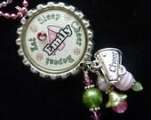 Cheerleader PERSONALIZED Bottle Cap Pendant Necklace/Charm/Zipper Pull