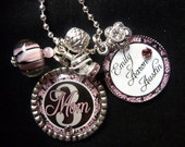 PERSONALIZED Mom Double Bezel Pendant Necklace/Keychain-Nana, Grandma etc. withChildren Names