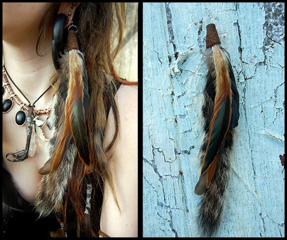 Squirrel tail earring