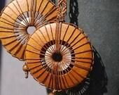 Wooden Macrame Earrings