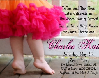 TUTU Baby Shower Invitation for GIRL