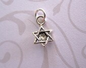 Star of David Sterling Silver Charm Tiny Small Little
