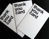 3 pack of thank you cards