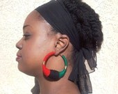 African Unity hoops LG gold wire