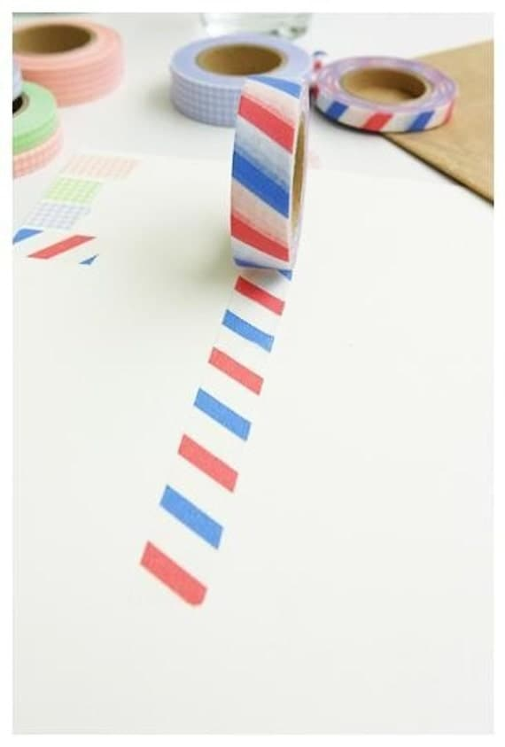 French Masking Tape - Airmail Stripes