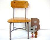 Vintage Industrial Child Chair