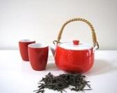 Vintage Porcelain Teapot and Cups