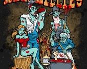 Hellbillies...Zombie..country folk psychobilly horror tee.