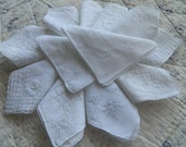 Vintage Hankie lot of 12 White Wedding All in good condition Lot 524