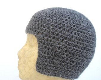 Grey Helmet Hat- Small