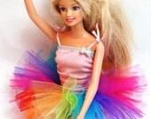 Rainbow Explosion Barbie Tutu