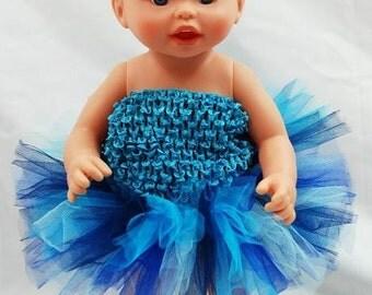 Rockin' The Blues Doll Tutu - Fits American Girl Dolls, My Generation Dolls, and Baby Dolls