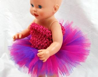 Shockingly Girly Doll Tutu - Fits American Girl Dolls, My Generation Dolls, and Baby Dolls