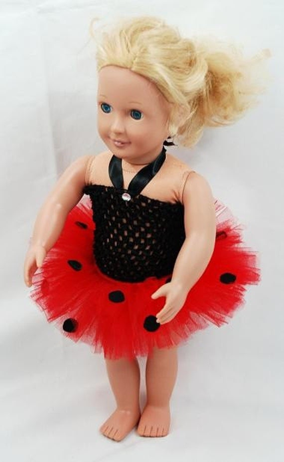 "2-Piece Ladybug Tutu Outfit For 18"" Dolls - Fits American Girl Dolls"