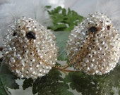 Wedding Cake Topper Birds in Love MADE TO ORDER  Fresh Water Pearls Table Decoration