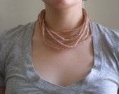 Nude Wet Felted Rope Necklace
