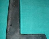 Vintage Clear Black Plastic Letter L