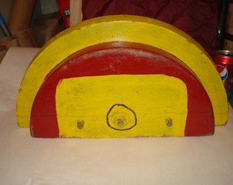 Vintage Colorful Red and Yellow Foundry Mold