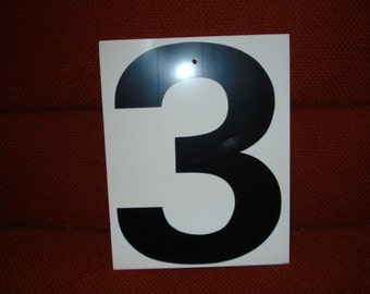 Vintage Double Side Sign Number 3 or 4