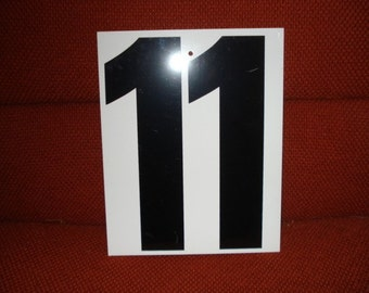 Vintage Double Side Sign Number 10 or 11