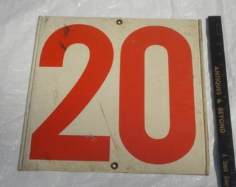 Vintage Gas Station Number Sign 20/32