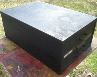 Vintage Industrial 4 Drawer Metal File Drawers