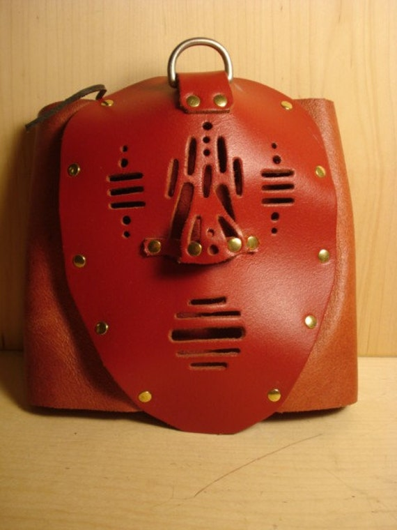 Vintage Quality Hand Made Red Leather Mask