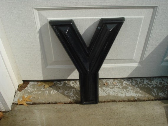 Vintage Large Drive In Movie Marquee Letter Y
